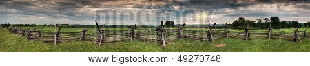 Antietam Fenceline Panorama