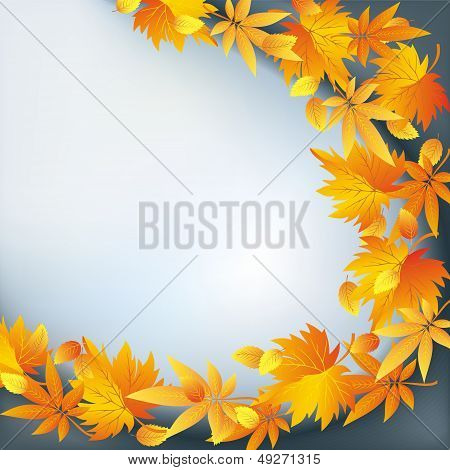 Abstract Nature Background, Autumn Leaf Fall