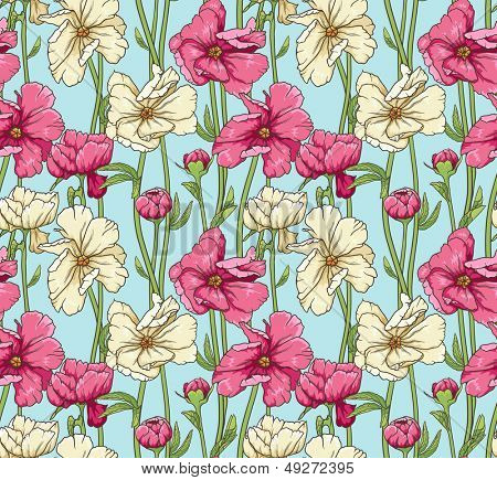 Stylish floral seamless wallpaper