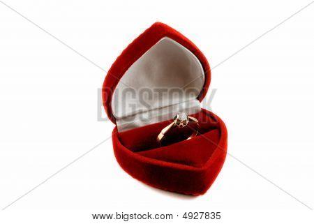 Diamond Ring In Fancy Box