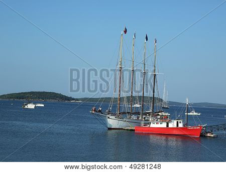 The Margaret Todd ship in historic Bar Harbor