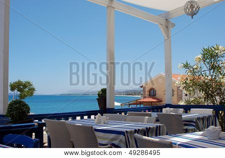 Lunch on Crete Island