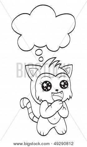 Cute cat with speech bubble