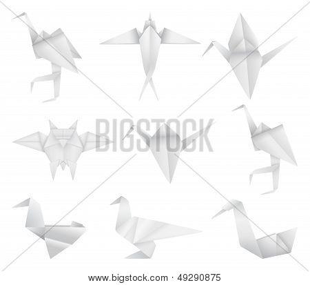 Origami bird's set