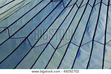 Blue Parachute Tent Background