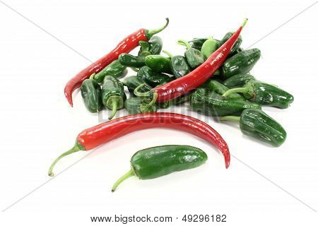 Pimientos With Red Hot Peppers