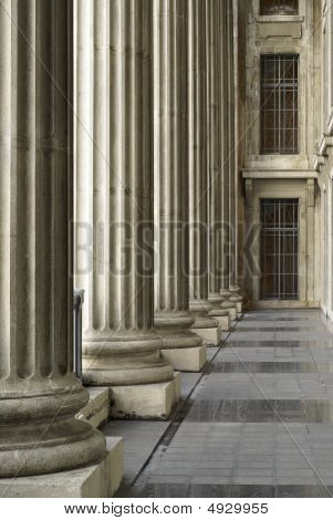 Corridor Of Classical Columns