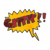 stock photo of growl  - retro cartoon comic book growl symbol - JPG