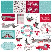 stock photo of christmas theme  - Scrapbook Design Element  - JPG