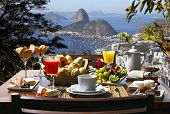 stock photo of tropical food  - Breakfast Rio de Janeiro - JPG
