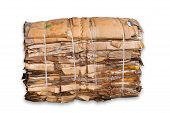 stock photo of reprocess  - Pile of the cardboard isolated on  white background - JPG