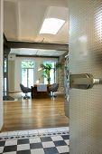 stock photo of koln  - Spacious dining room at modern house - JPG