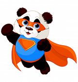 stock photo of pandas  - Illustration of Super Hero Panda - JPG