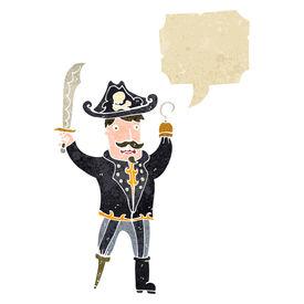 pic of peg-leg  - retro cartoon pirate captain - JPG