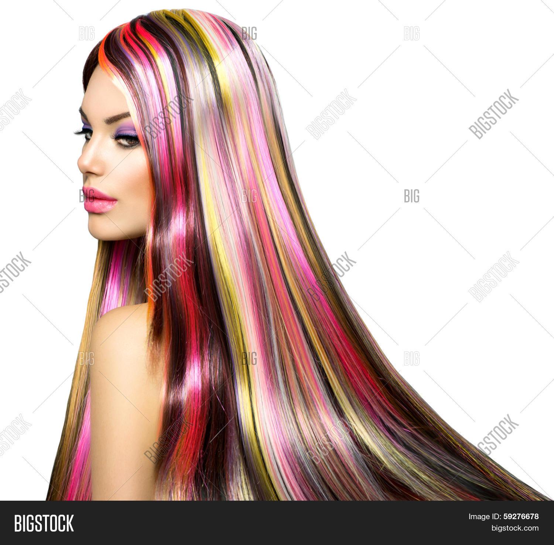 gekleurde extensions