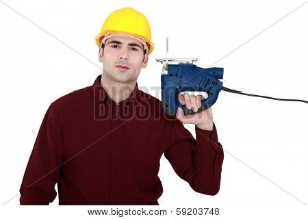 Craftsman with a chainsaw