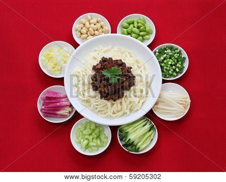 zhajiang mian(Beijing style), chinese noodle cuisine