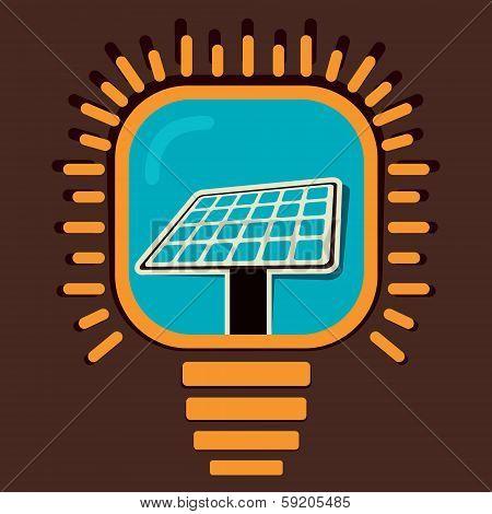 solar panel in bulb