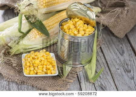 Portion Of Preserved Sweetcorn