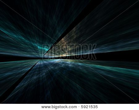DataStream Landscape - 3D Fractal Illustration