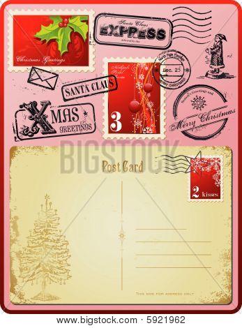 Christmas postage set