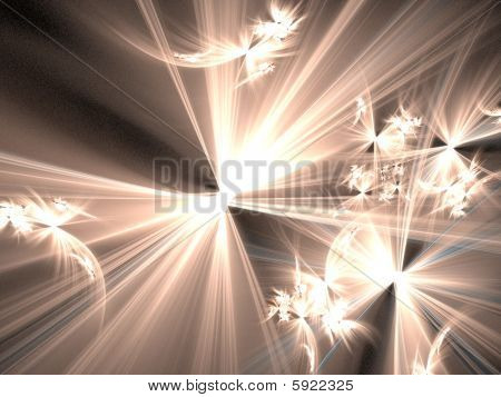 Beings of Heavenly Light - fractal illustration
