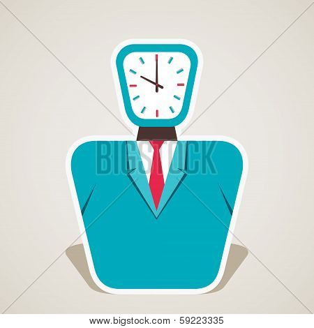 clock face of businessmen