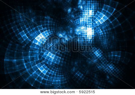 Turquoise Cloud Computing - Fractal Illustration