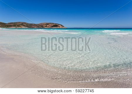 Beautiful clear sea for swimming in Esperance, Australia