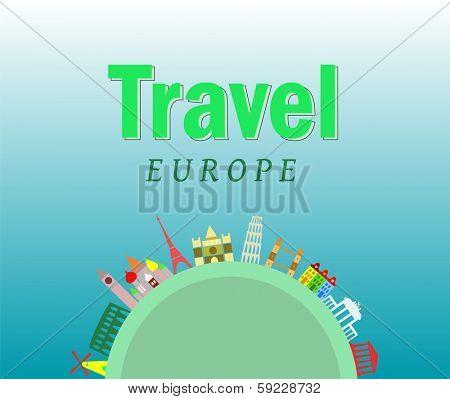 travel background, European cities