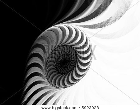 Monochrome High Contrast Spiral