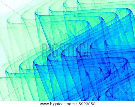 Blue & Green 3D Ripples