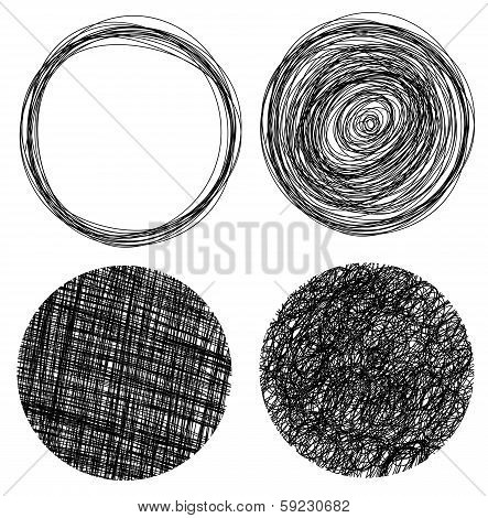 Hand Drawn Grunge Circles