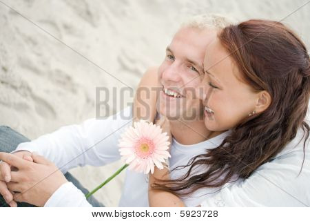 Cute Couple On The Beach