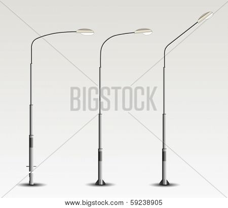 set street lamppost isolated on background