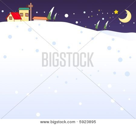 snow in night