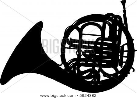 Horn isolated vector illustration
