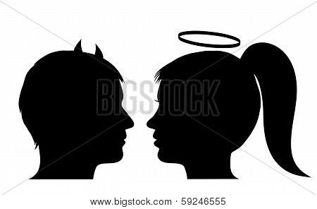 Male Devil And Female Angel