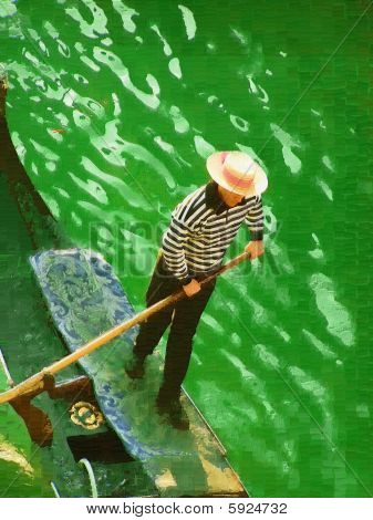 Gondolier in Venice oil painting