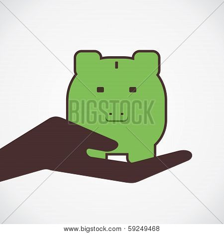 money save in piggy concept vector