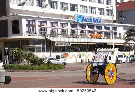 View Of Ricksha Cart In Front Of Hotel