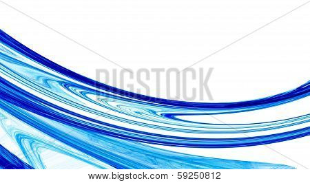 Blue and white abstract fractal background