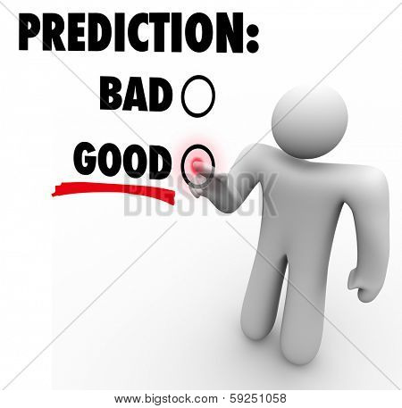 Prediction Words Good Bad Guess Future Outcome
