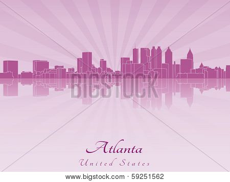 Atlanta Skyline In Purple Radiant Orchid