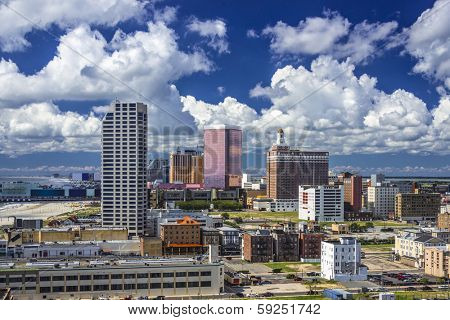 Atlantic City, New Jersey cityscape.