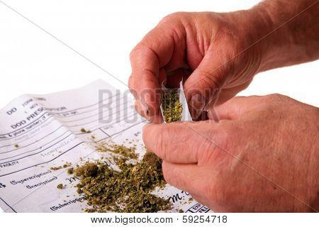 A man attempts to roll a