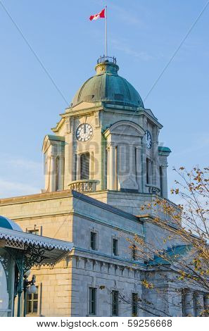 Quebec City, Canada - The old post office with its clock tower