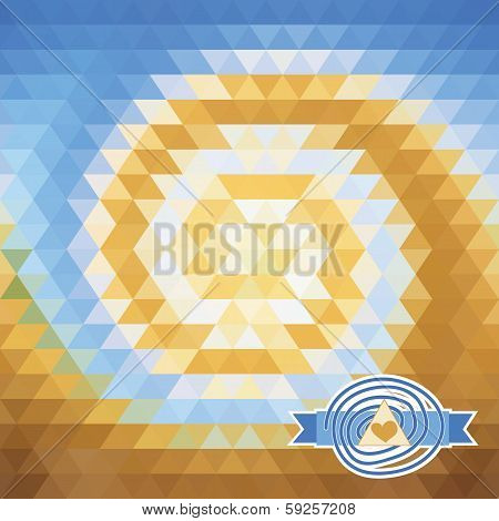 Background With Triangles. Illusion Vortex