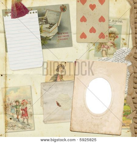 vintage ephemera background