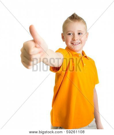 like gesture showing by kid